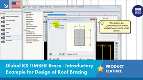 Dlubal RX-TIMBER Brace - Introductory Example for Design of Roof Bracing