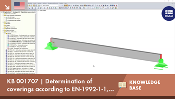 KB 001707 | Determination of coverings according to EN-1992-1-1, with RF-CONCRETE Members