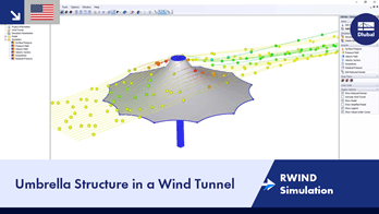 RWIND Simulation | Umbrella Structure in a Wind Tunnel