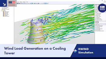 RWIND Simulation | Wind Load Generation on a Cooling Tower