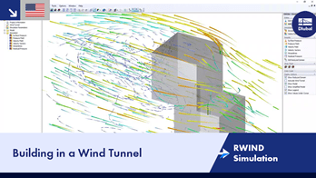 RWIND Simulation | Building in a Wind Tunnel