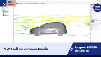 [EN] Program RWIND Simulation | VW Golf ve větrném tunelu