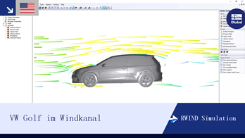 [EN] RWIND Simulation | VW Golf im Windkanal