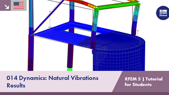 RFEM 5 Tutorial for Students | 014 Dynamics: Natural Vibrations | Results