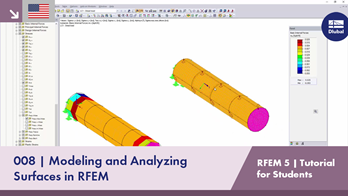 RFEM 5 Tutorial for Students | 008 Modeling and Analyzing Surface in RFEM