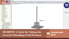 KB 000781 | Factor for Taking into Account Unloading of Soil Pressure