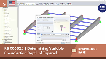 KB 000825 | Determining Variable Cross-Section Depth of Tapered Member Using 'Connect Lines or Me...