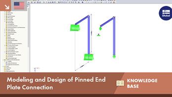 KB 001516 | Modeling and Design of Pinned End Plate Connection