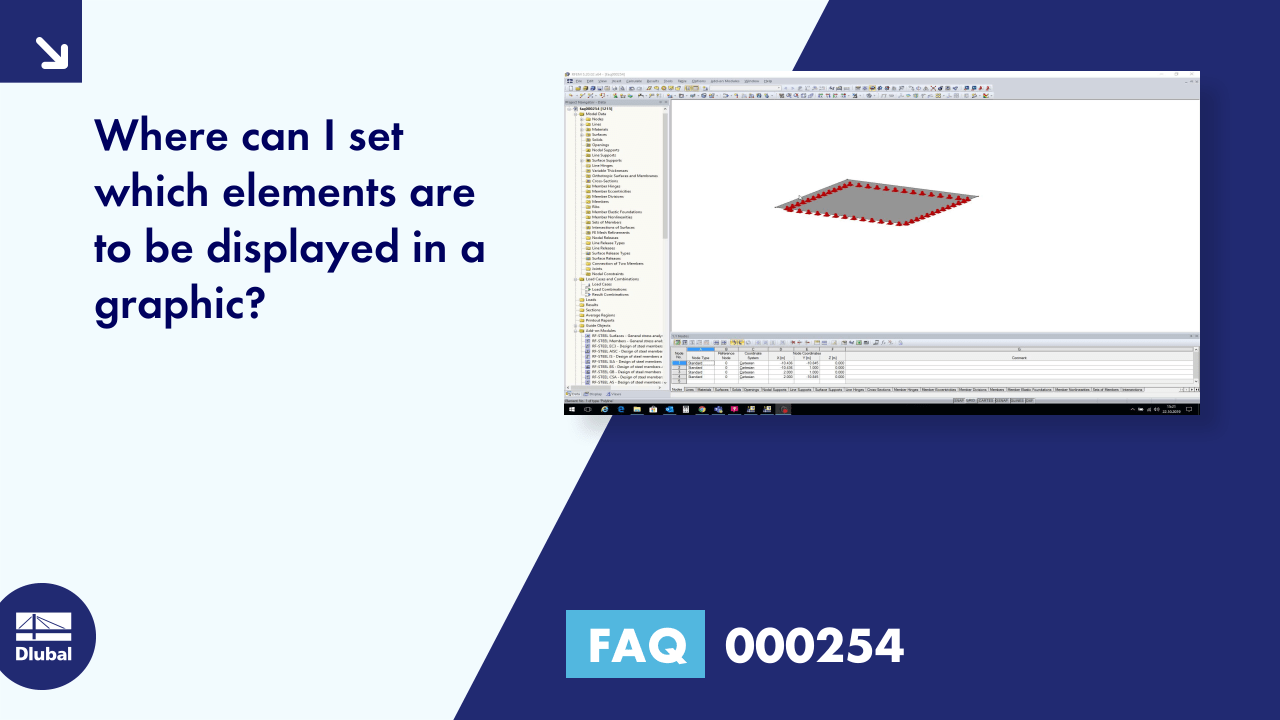 FAQ 000254 | Where can I set which elements are to be displayed in a graphic?
