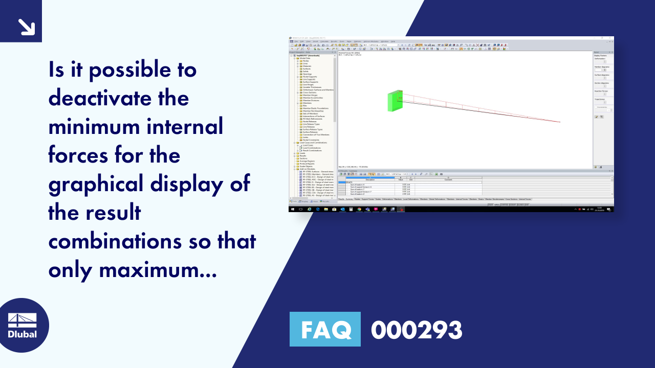 FAQ 000293 | Is it possible to deactivate the minimum internal forces for the graphical display o...