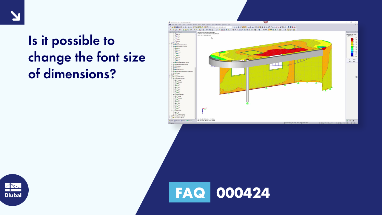 FAQ 000424 | Is it possible to change the font size of dimensions?