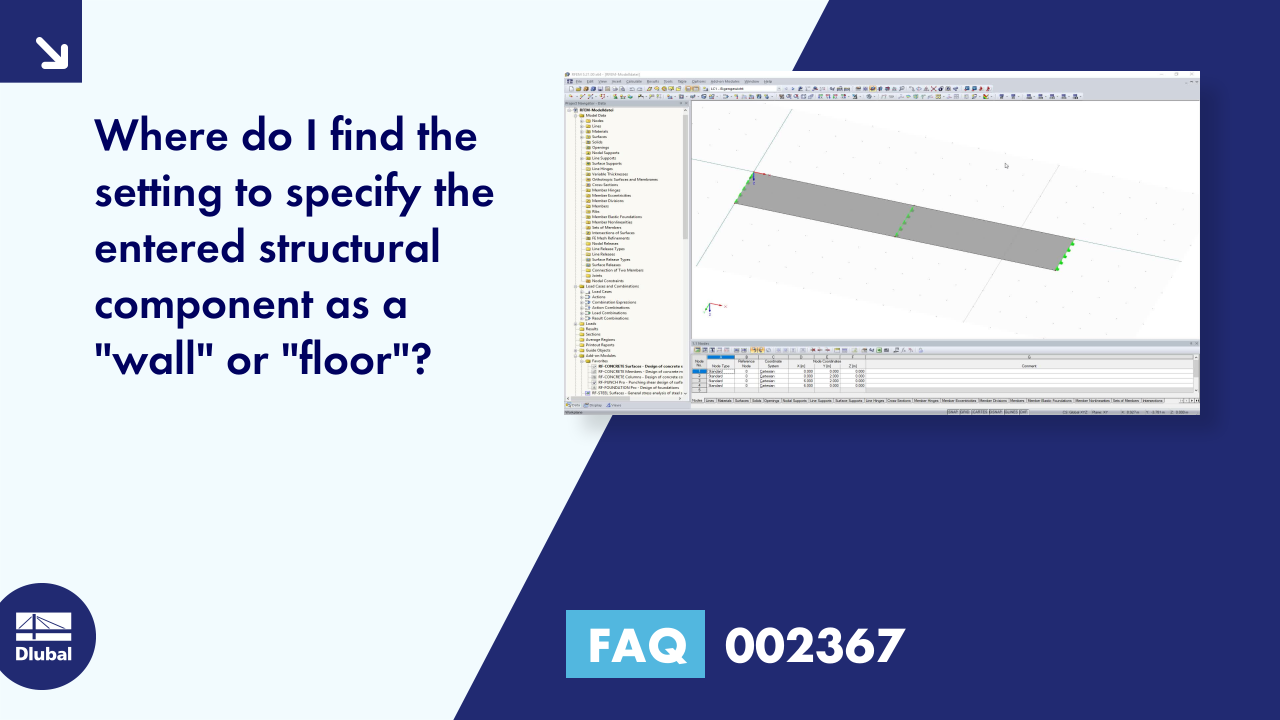 "FAQ 002367 | Where do I find the setting to specify the entered structural component as a ""wall"" ..."