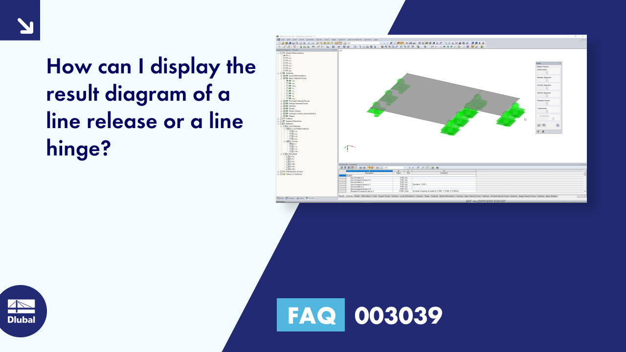 FAQ 003039 | How can I display the result diagram of a line release or a line hinge?