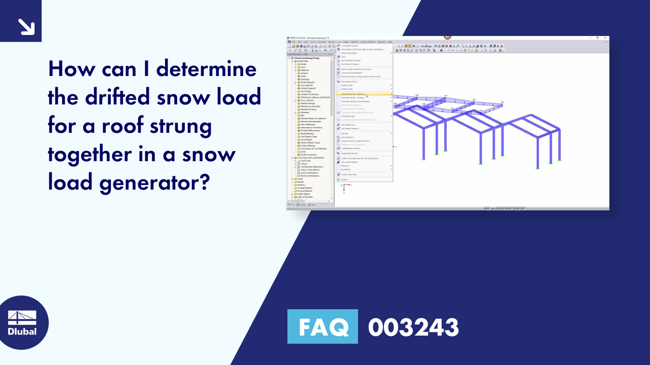 FAQ 003243 | How can I determine the drifted snow load for a roof strung together in a snow load ...
