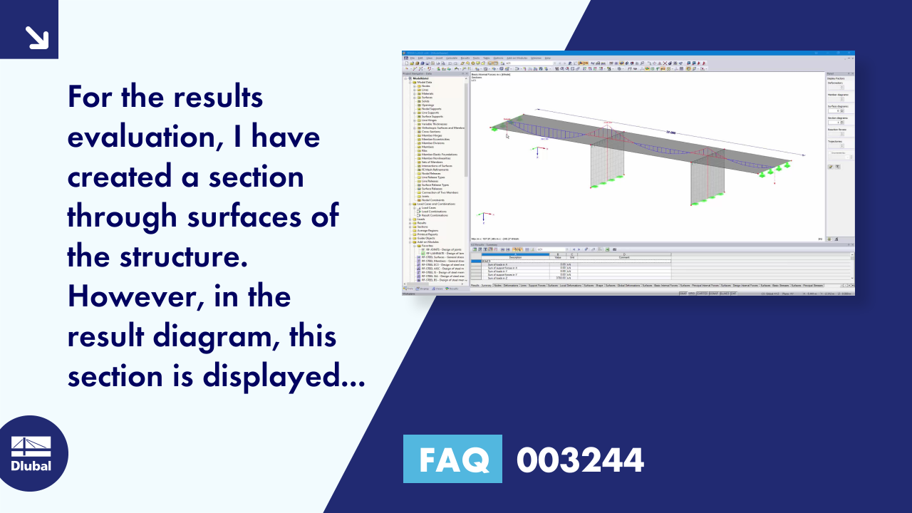FAQ 003244 | For the results evaluation, I have created a section through surfaces of the structu...