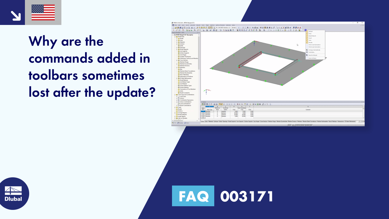 FAQ 003171 | Why are the commands added in toolbars sometimes lost after the update?