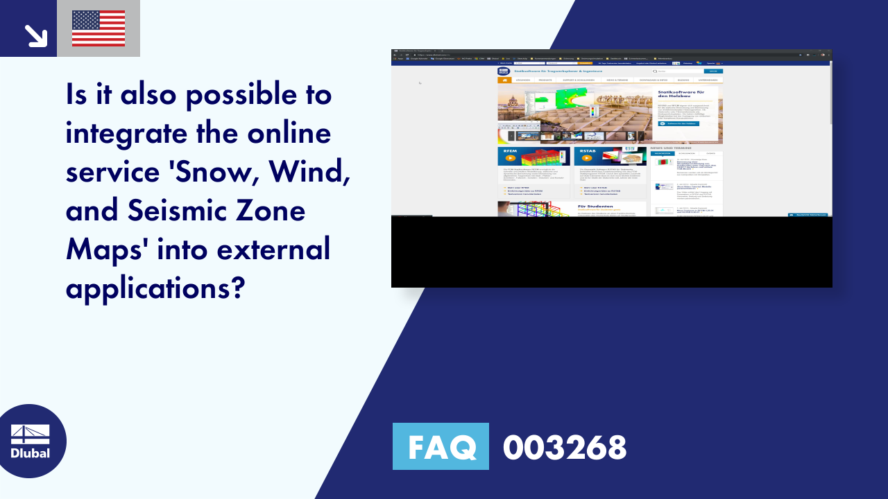 FAQ 003268 | Is it also possible to integrate the online service 'Snow, Wind, and Seismic Zone Ma...