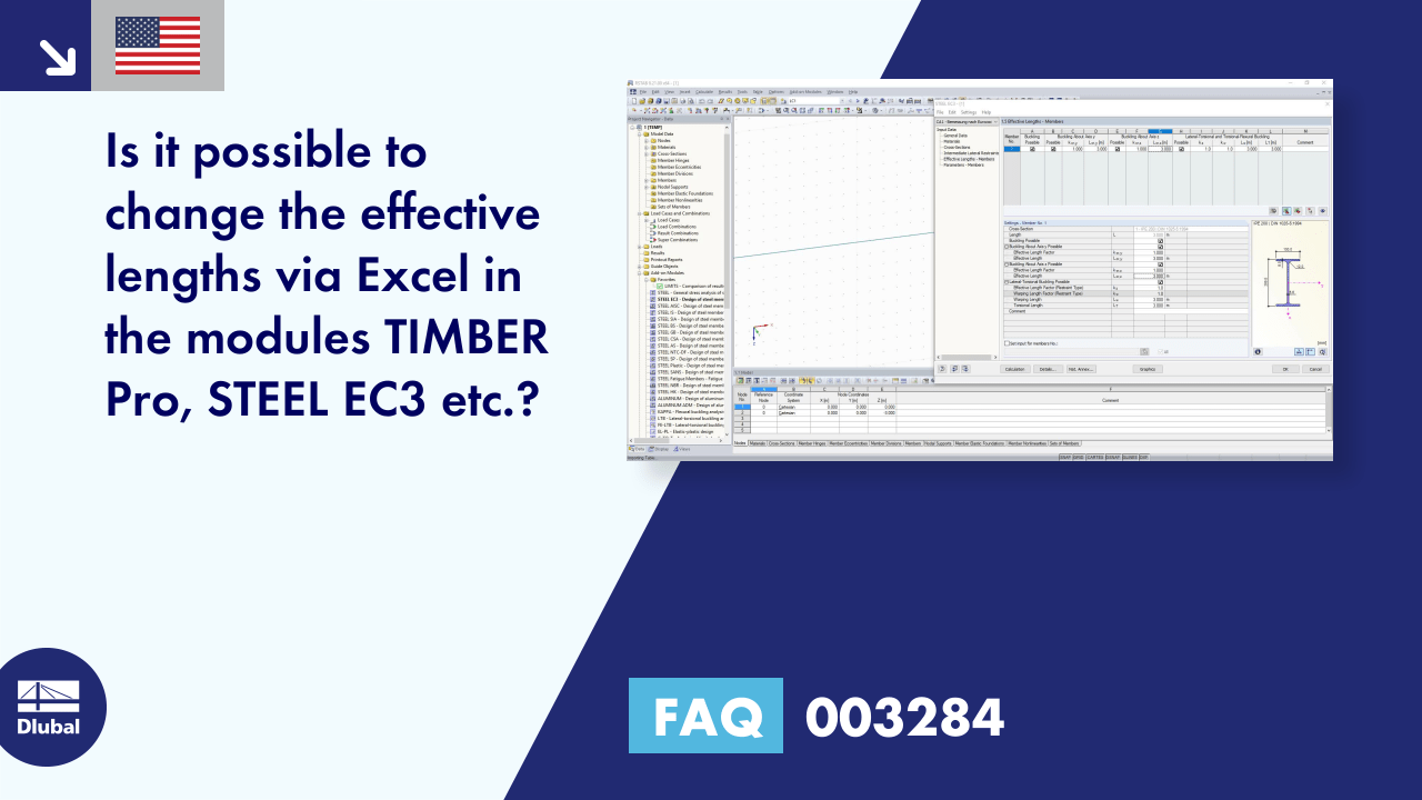 FAQ 003284 | Is it possible to change the effective lengths via Excel in the modules TIMBER Pro, ...