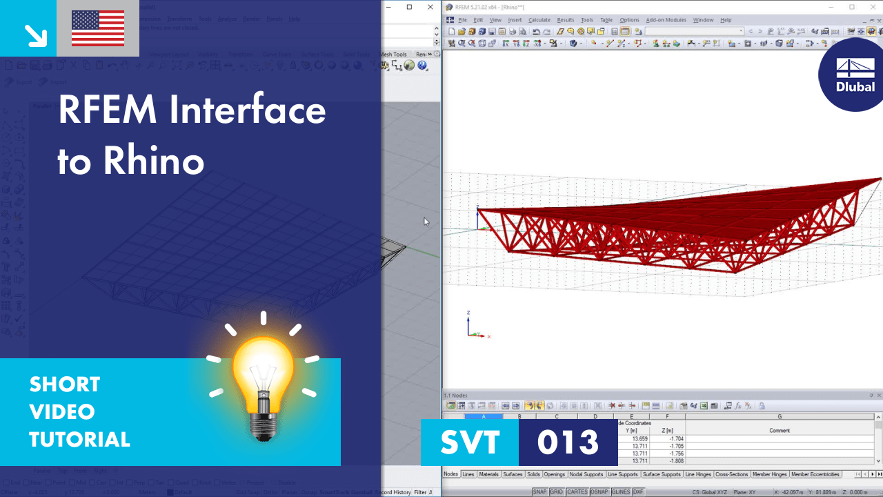 SVT 013 | RFEM Interface to Rhino