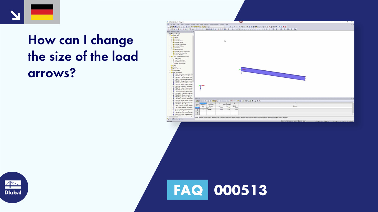 [DE] FAQ 000513 | How can I change the size of the load arrows?