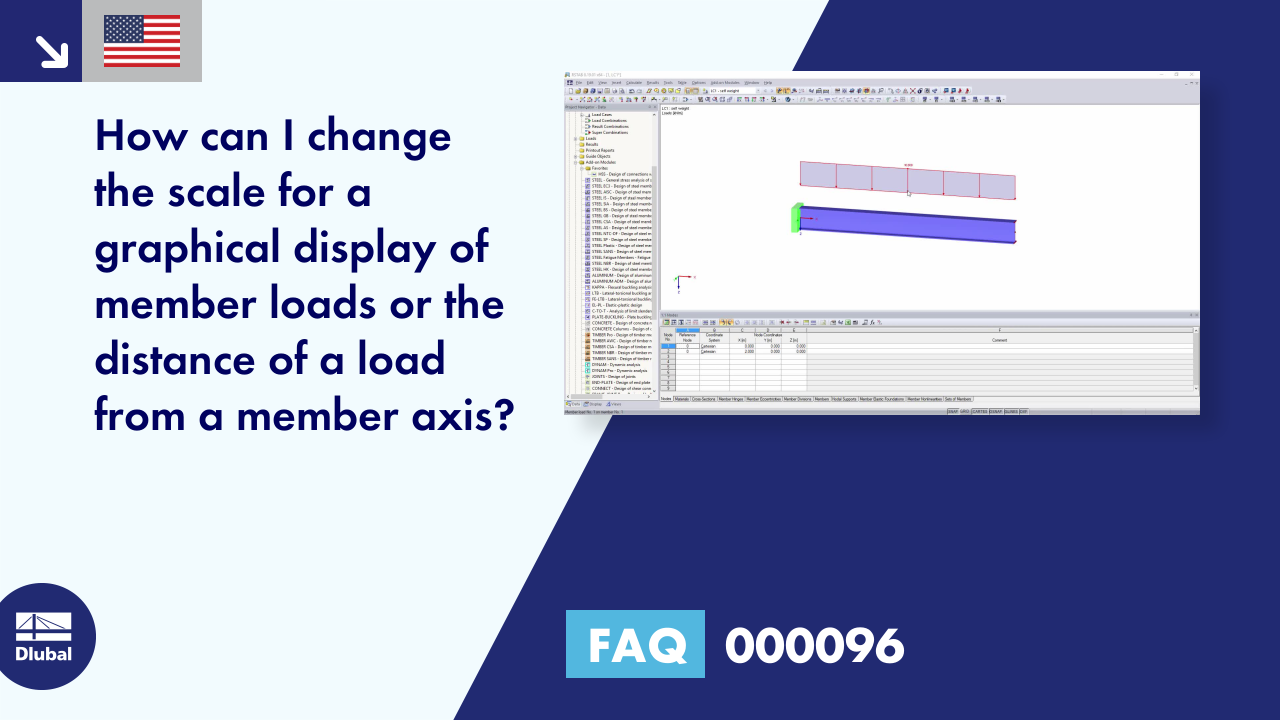FAQ 000096 | How can I change the scale for a graphical display of member loads or the distance o...
