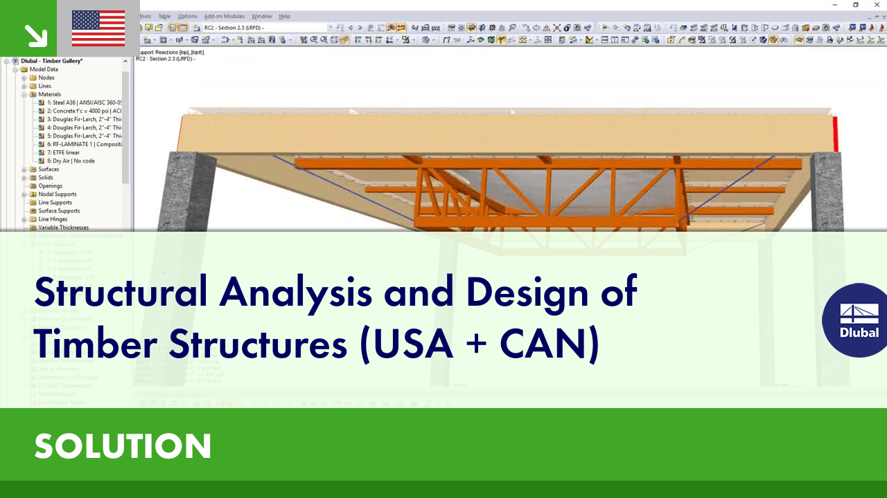 Structural Analysis and Design of Timber Structures (USA + CAN) | Dlubal Software