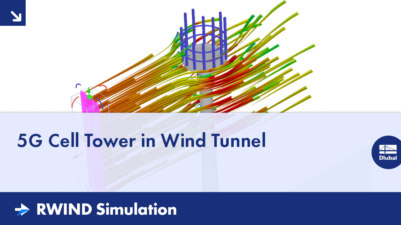 RWIND Simulation | 5G Cell Tower in Wind Tunnel