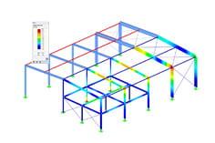 Rf Steel Aisc Mode Shapes Dlubal Software