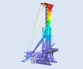 Structural beam analysis program RSTAB | Deep drilling rig