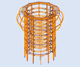 Structural beam analysis program | Lookout tower on Rügen Island