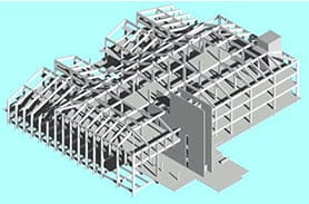 Modell in Autodesk Revit Structure