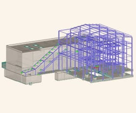 Designed with Structural Analysis Program RFEM - Wooden Mass Boiler House in Kočevje, Slovenia