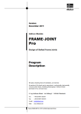 Manuale FRAME-JOINT Pro