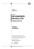 Manual RF-CONCRETE Members acc. to CSA A23.3-14