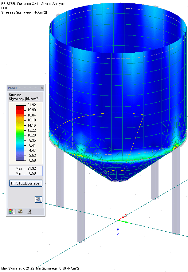 Colored Results in RFEM Graphic - Surfaces