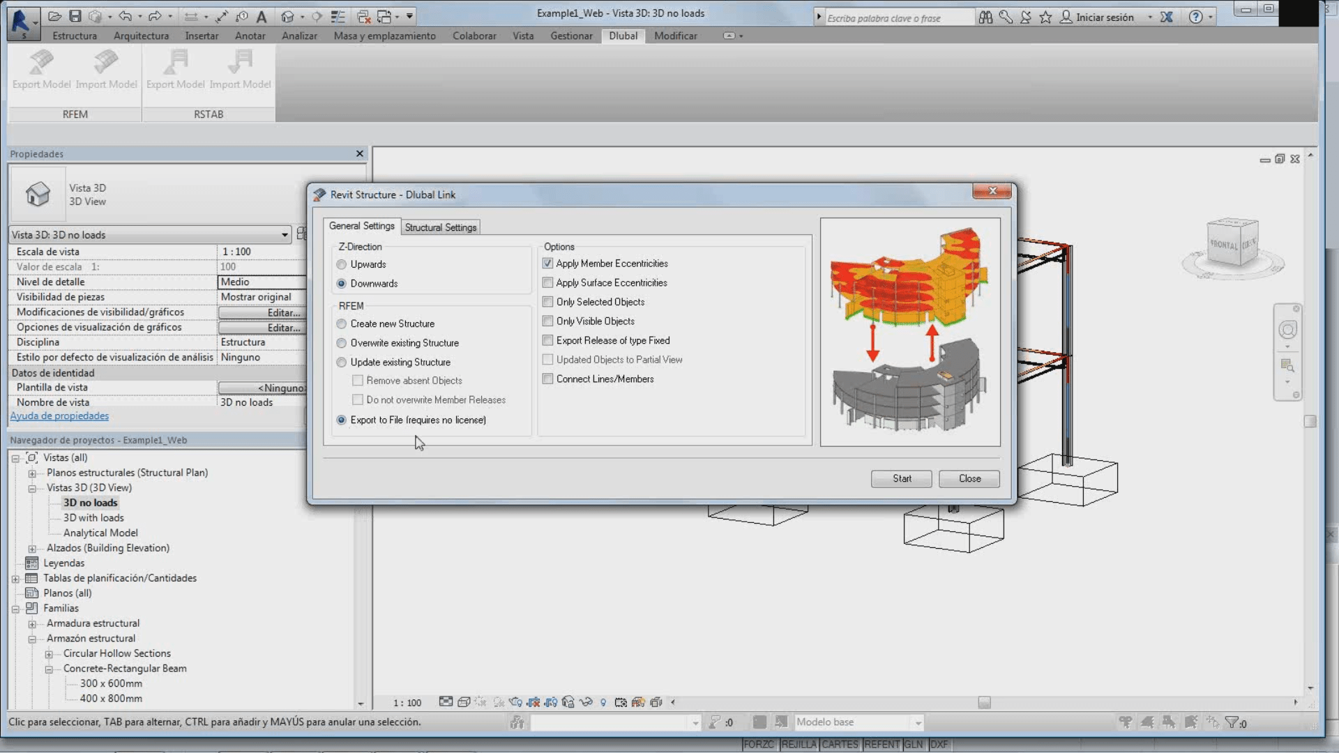Intercambio de datos bidireccional con Revit Structure