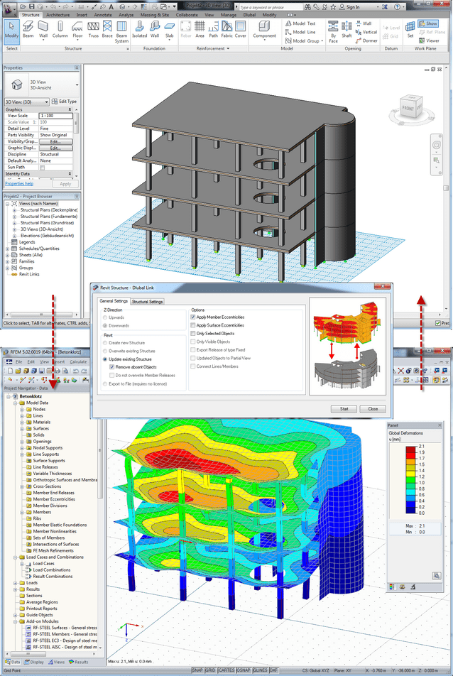 Data exchange between Autodesk Revit Structure and RFEM