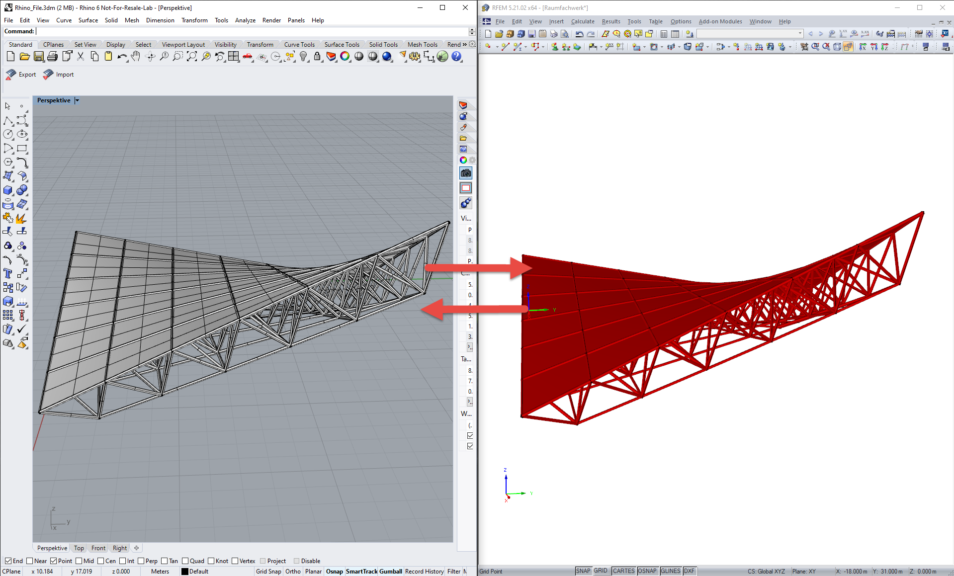 RFEM Interfaces to Rhino & Grasshopper