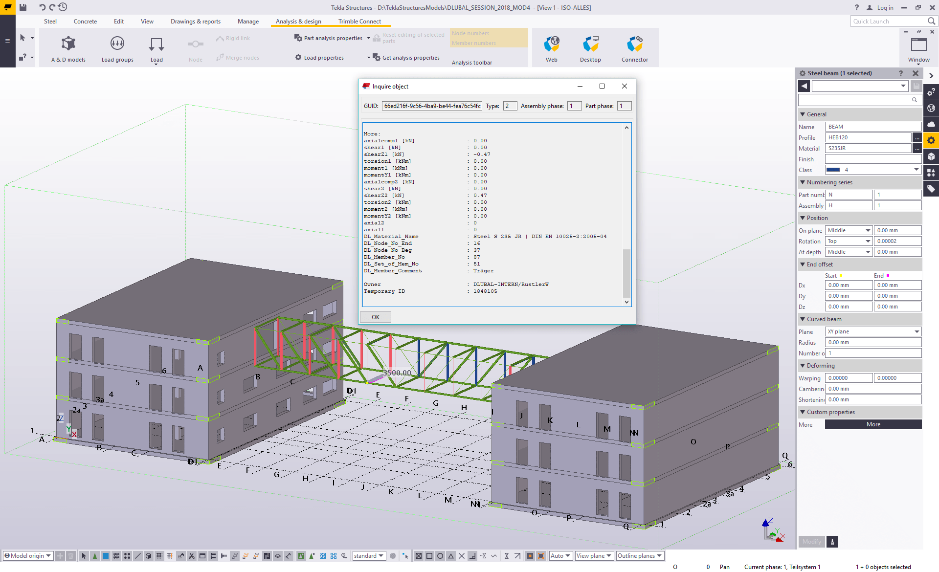 RFEM/RSTAB Interface with Tekla Structures | Dlubal Software