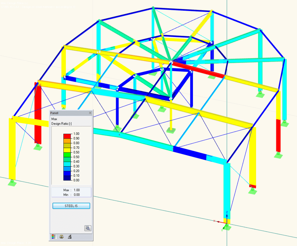Design results of RF-/STEEL IS in 3D rendering
