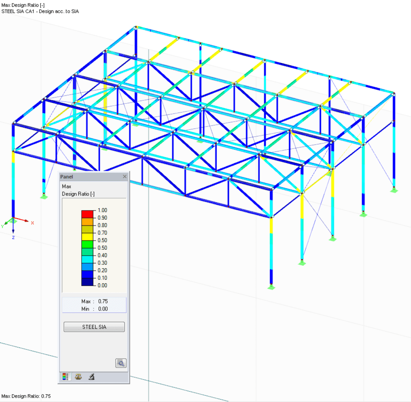Design results of RF-/STEEL SIA in 3D rendering