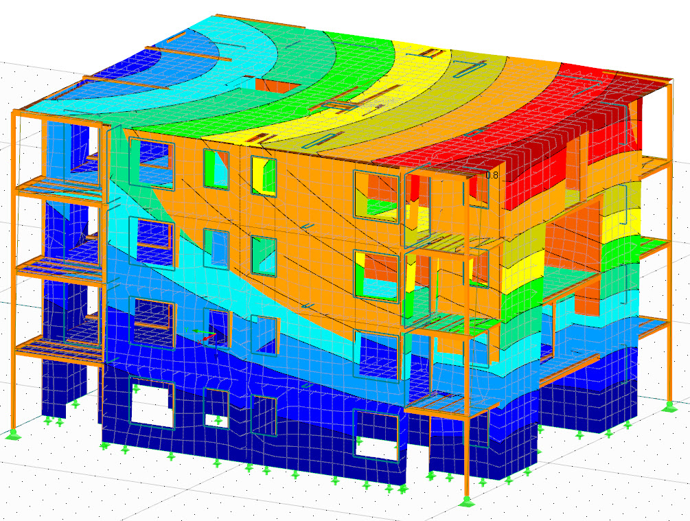 Natural vibrations of housing complex (C) www.rubner.com