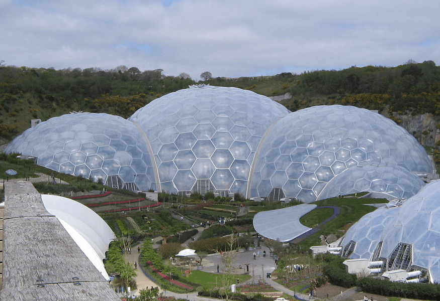 Rainforest Biome of Eden Project in Cornwall, UK