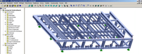 RSTAB model of grate scaffolding