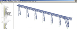 RSTAB Model of Tripper Car Bridge for Conveyor Belt System, Uzbekistan