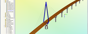 RFEM model of timber pedestrian bridge