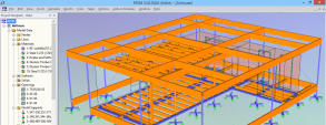 "Berechnungsmodell des ""AIR House"" in RFEM"