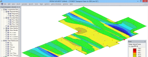 RFEM model of concrete foundation slab for transporting Vechthoeve