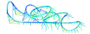 Realisiert mit Dlubal-Statiksoftware RFEM - Dragon Flight, X-Train Flying Launch Coaster in Ningbo (China)