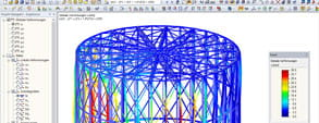Designed with Dlubal Software RFEM - Gasometer reconstruction in 360° panorama view in Pforzheim